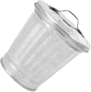 Toddmomy Recycling Bin for Office Recycling Container Desktop Recycler Retro Iron Mini Garbage Recycling Container Trash C...
