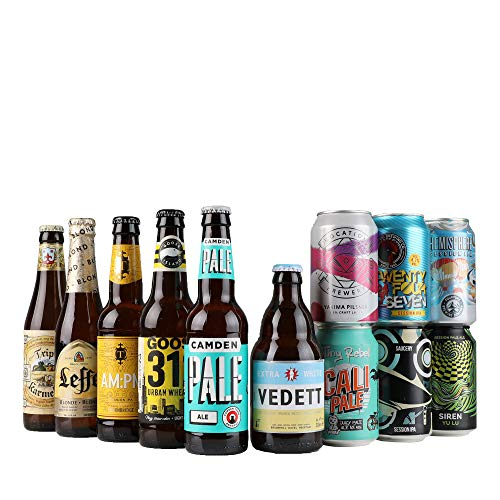 Craft Beer Introductory Mixed Case By Beer Hawk, 12 each,1000 ML