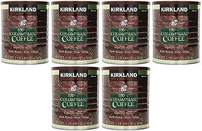 Signature 100% Colombian Coffee Supremo Bean Dark Roast-Fine Grind, 6 Pound ,Signature-ykgj Pack of 3