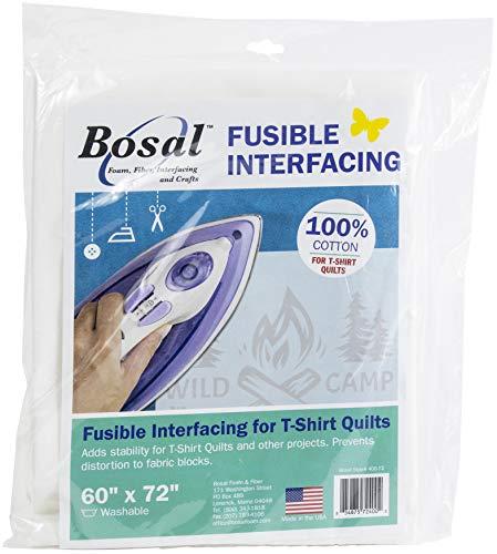 Bosal Foam & Fiber Bosal Fusible Interfacing for T-Shirt Quilts, White