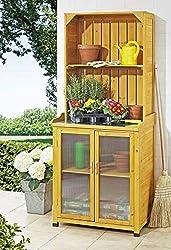 Gartenschrank mit Pflanztisch