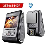 VIOFO A119 V2 Autokamera Dashcam 2560x1440P 2K Super HD 160° Weitwinkel mit GPS 2 Zoll LCD-Bildschirm, G-Sensor, Bewegungserkennung, Schleifenaufnahme, Parkmodus, Zeitraffer, WDR
