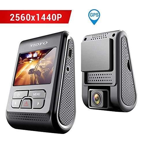 Cámara de Coche VIOFO A119 Dash CAM 2560x1440P 2K Super HD 160 ° Gran Angular Dash Camera Discreto diseño con GPS Logger