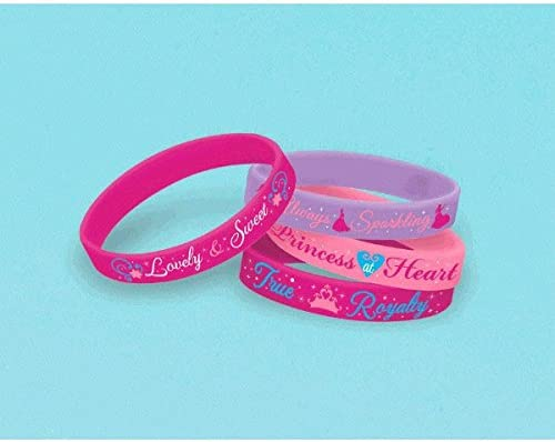 Disney Princess Special Financial sales sale price Rubber Bracelets Party Supplies 4 Count