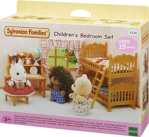 Sylvanian Families 5338 Landhaus Kinderzimmer mit Stockbett - Puppenhaus Einrichtung Möbel