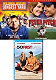 Game Love Adam Sandler Drew Barrymore 50 First Dates + Fever Pitch Baseball & Football Longest Yard Comedy Triple Feature Bundle Movie Collection 3 DVD Set