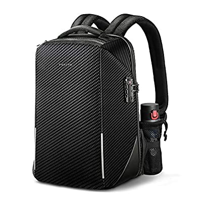 Anti-theft Travel Laptop Backpack, Fintie 15.6 Inch TSA-Friendly Water Resistant Daypack Rucksack with RFID Protection and USB Charging Port for Mens Business School Outdoor, Black by Fintie