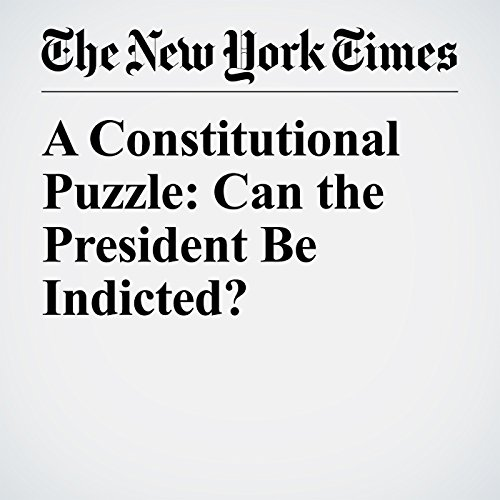 A Constitutional Puzzle: Can the President Be Indicted? copertina