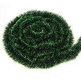 LOKIPA Guirlande de Noël verte de 10 m avec décorations pour sapin de Noël