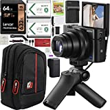 Sony Cyber-Shot RX100 VII RX100M7 4K Digital Camera DSC-RX100M7G Vlogging Shooting Grip Bundle VCT-SGR1 Grip Tripod + Triple Battery + 64GB Memory Card + Deco Gear Case and Kit Accessories