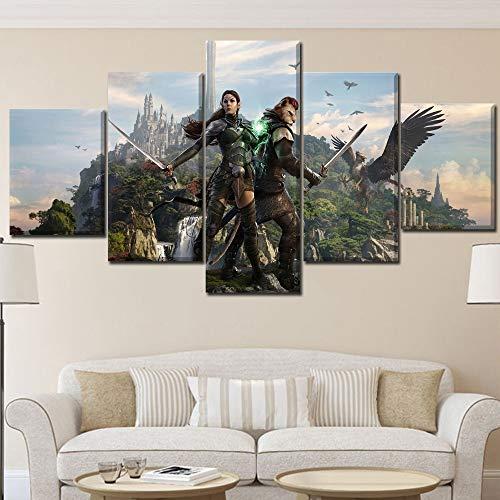 Hete verkoop top canvas druk Elder Scroll Online poster kunstdruk decoratie woonkamer of slaapkamer frameloos 40 * 60 40 * 80 40 * 100