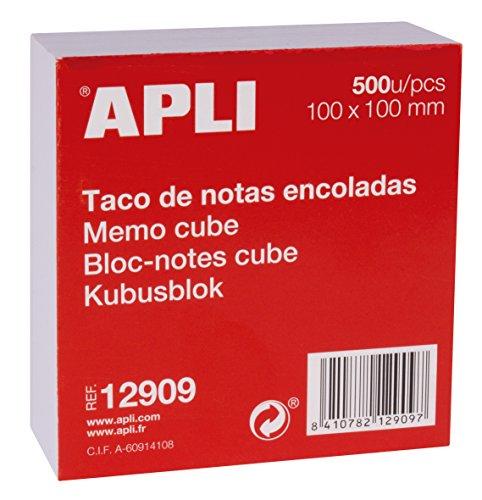 APLI 12909 - Taco de notas encoladas (100 x 100) 500 hojas