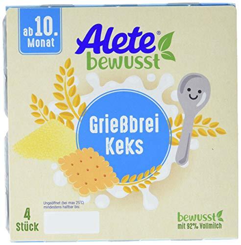 Alete bewusst Dessert Grießbrei Keks, ab dem 10. Monat, 400g