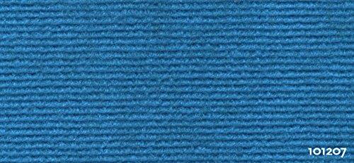Exclusiv Rips Teppichboden - Blau 101207 - Recyclingfähiger Nadelvlies 2 m x 0,5 m Quadratmeterpreis 5,95€ (1 Bestellmenge 0,5 x 2 Meter = 1 qm / 5 x Bestellmenge = 5 qm = 2,5 x 2 Meter)