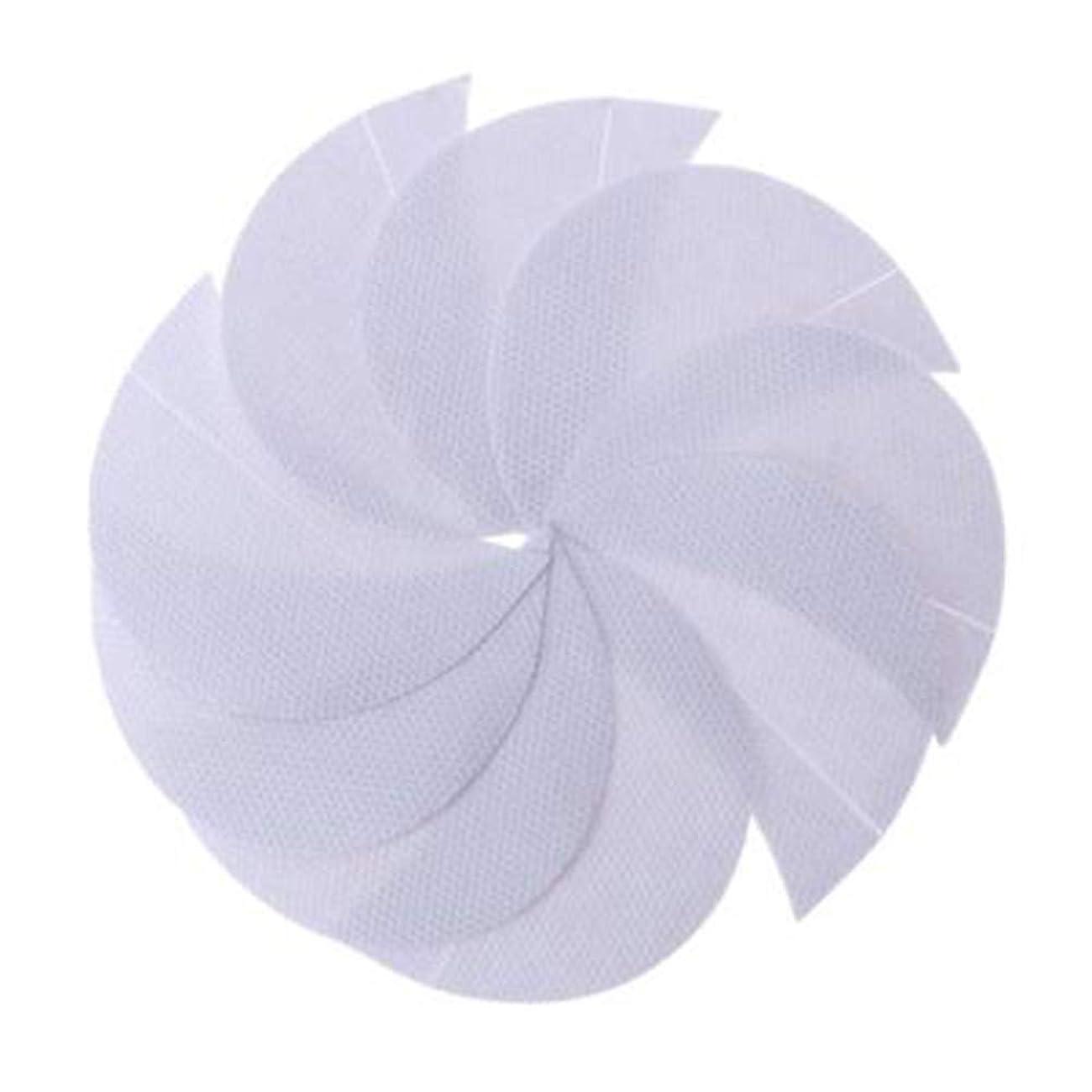 義務づける追い払う最大化するRabugogo 100個/袋不織布アイシャドーシールドアイシャドージェルパッドパッチアイシャドーステンシル防止まつげエクステ化粧品残留物