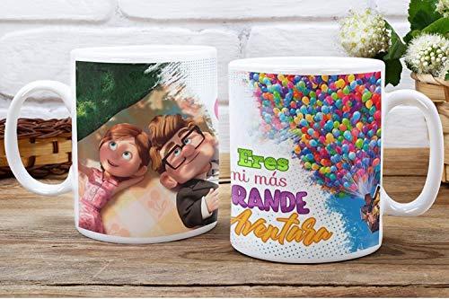 aysd Carl y Ellie Up film Custom tazza da caffè e tè, sposi coppia matrimonio regalo amico compleanno Sorpresa