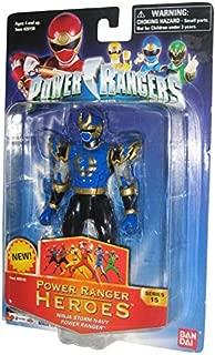 Power Rangers Heroes Ninja Storm Series 15 Action Figure Navy Ranger