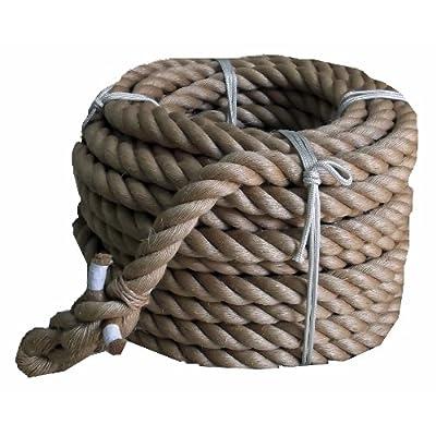 まつうら工業 サイザル麻製 綱引きロープ 太さ30mm 長さ約10m 両端折り返し編み加工付