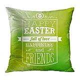 SRhui Dekokissenbezug Kissenbezug Ostern Kaninchen Eier voller Liebe und Freunde Kissen Home DecorPillowcase