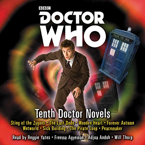 Doctor Who: Tenth Doctor Novels     Eight adventures for the 10th Doctor              By:                                                                                                                                 Jacqueline Rayner,                                                                                        Stephen Cole                               Narrated by:                                                                                                                                 Adjoa Andoh,                                                                                        Freema Agyeman,                                                                                        Reggie Yates,                   and others                 Length: 18 hrs and 20 mins     109 ratings     Overall 4.6