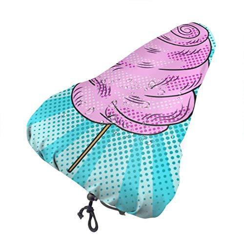 Coprisedile per bici impermeabile Coprisella per bici rosa in cotone Candy Candy Coprisedile per bambini con coulisse, resistente alla pioggia e alla polvere per la maggior parte delle selle da bici