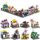 ZornRC Store Townhouse City Set Building Blocks, Educational Building Bricks House Building Kit Birthday Party Favors for Kids (822 PCS)