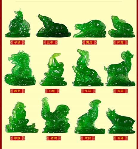 CUIDALAO standbeeld sculptuur decoraties zijn als jade en stenen muizen Tijger kip draak Varken hond os en paard sculptuur decoratie standbeeld Thuis