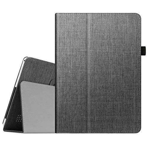 Fintie Case for Dragon Touch 10 inch K10   Notepad K10   Max10 Plus ZONKO K105 10.1 Tablet, Premium PU Leather Stand Cover for Lectrus, Victbing, Hoozo, Winsing 10 Android Tablet (Charcoal)