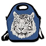 Best nfl Reusable Hand Warmers - Cool Tiger Design Navy Blue Lunch Bag Insulated Review
