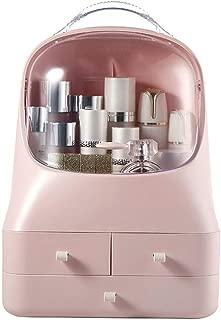 Portable Makeup Organiser Boxes, Waterproof Dustproof Design Storage Display Box, Great for Bathroom, Dresser, Vanity and Countertop,Pink