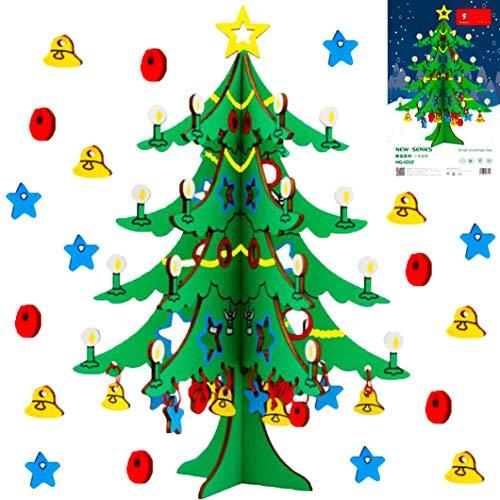 Sunshine smile DIY Weihnachtsbaum,Weihnachtsbaum Set, DIY Weihnachtsbaum kit,Weihnachtsbaum kit,Weihnachtsbaum,3D Weihnachtsbaum aus Holz,Bastelset für Weihnachten,Holzpuzzle für Kinder