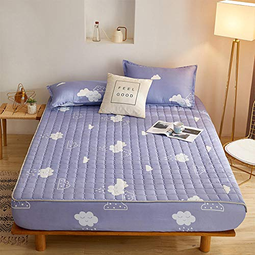 HPPSLT Unterbett Soft-Matratzen-Topper, Matratzenschutz Boxspring-Betten geeignet Wasserdichtes Dickes Bettlaken einteilig - 11_180 cm x 220 cm