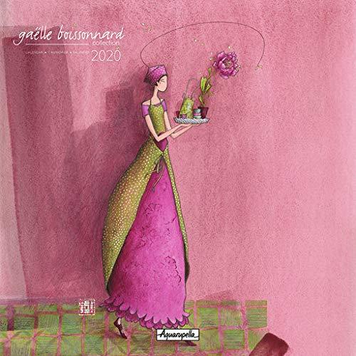 Aquarupella Kalender die rosa Blume 2020 von Gaëlle Boissonnard, Maße: 30 x 30 cm