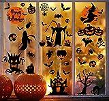 Voqeen Halloween Stickers Château Sorcière Autocollant d'horreur Décoration De Fête pour Maisons Hantées DIY Amovibles Statique Décalcomanie Murale Fenêtre Magasin Maison Fournitures