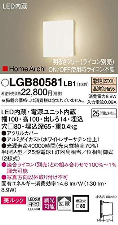 ロンドン礼儀日帰り旅行にパナソニック(Panasonic) LEDブラケット25形電球色LGB80581LB1