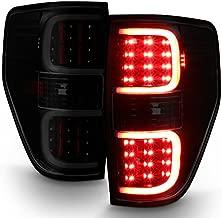 For 2009-2014 Ford F150 F-Series Black Smoked Lens Dual C-Shape LED Tube Tail Brake Light Lamps