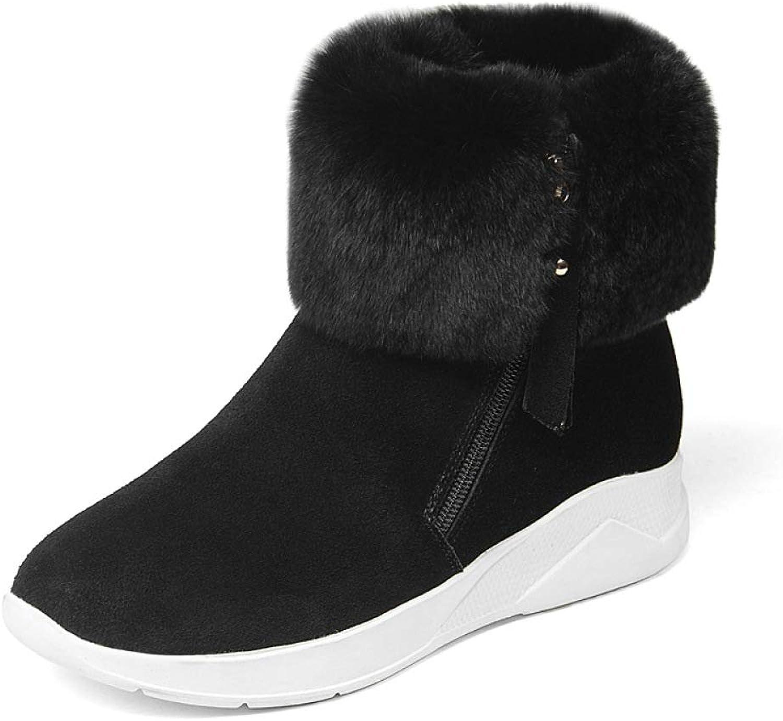 kvinnor kvinnor kvinnor mode Snow stövlar 2018 Winter Wedge skor utomhus Warm Plush Cotton stövlar, svart,39  med billigt pris för att få bästa varumärke