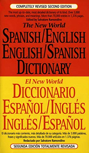 The New World Spanish/English,English/Spanish Dictionary: Second Edition [Idioma Inglés]: Completely Revised Second Edition