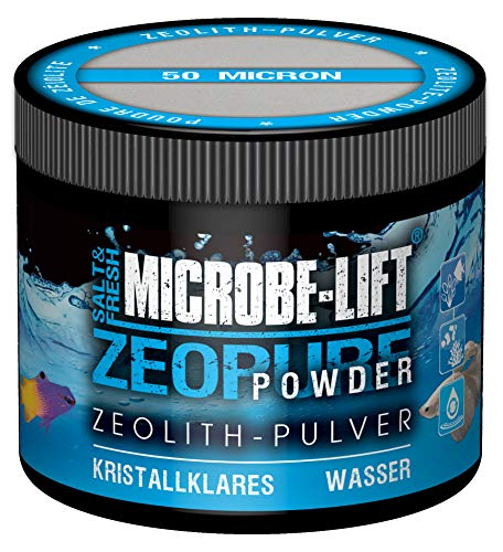 MICROBE-LIFT Zeopure Powder - Zeolith-Pulver für kristallklares Wasser, entfernt Schadstoffe, Süß- und Meerwasser Aquarium, 250ml / 125g