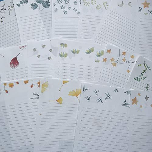 60Pcs Blatt Briefkopf Einfache Kraftpapier Kleine Frische Kreative Briefpapier Gelegentliche Anlieferung