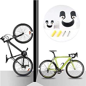 Soporte para bicicleta,Estante De Suspensión De Pared con Hebilla De Estacionamiento para Bicicleta, Soporte para bicicleta creativo portátil Ahorra espacio y fácil de instalar