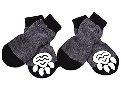 Dog Socks Traction Control Anti-Slip for Hardwood Floor Indoor Wear, Paw Protection