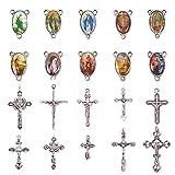★Ciondolo a croce e maglie vergini creano una combinazione perfetta per realizzare collane di perle di rosario.