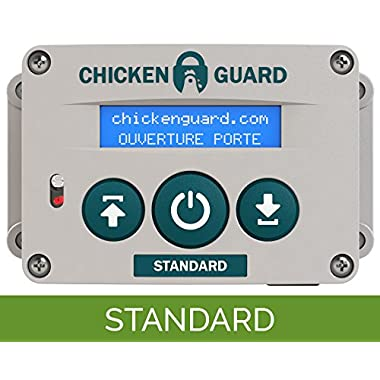 ChickenGuard Standard Automatic Chicken Coop Pop Door Opener Lifts up to 2 lbs, Timer Only | Outdoor/Indoor Auto Door Opener, Chicken Coop Accessories by
