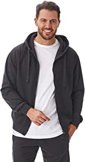 Iron Mountain Mens Reclaimed Yarn Eco Friendly Anti Pil Flexible Comfortable Soft Fleece Hooded Top Hoody, Charcoal Marl, ...