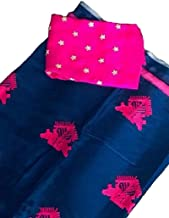 pawaly Women's self designed Chanderi cotton Saree Blouse Piece