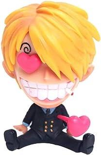 JKMQA おもちゃ ONE PIECE Vinsmokeサンジアニメモデル像Qバージョン座りアニメーションキャラクターアートコレクション玩具置物9CM -Firstクラス9CM