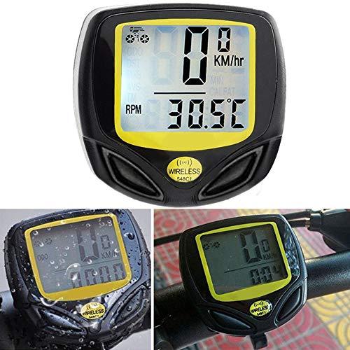 HKIASQ Bicicleta Computadora Cuentakilómetros Inalámbrico Impermeable GPS Bicicleta con un botón Despertador...