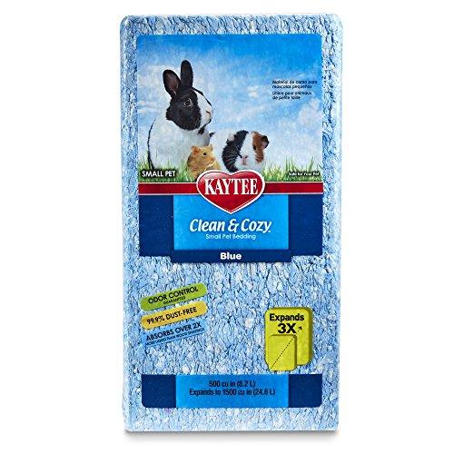 Kaytee 894655 Clean & Cozy Streu für kleine Haustiere / Nager / Hamster, 99.9 % staubfrei, Geruchskontrolle - 24.6 Liter, blau
