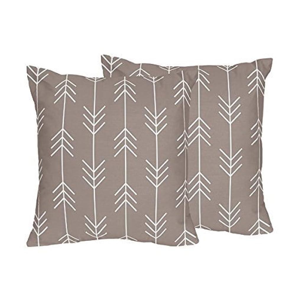 動的平和なアークOutdoor Adventure Gray Arrow Print Decorative Accent Throw Pillows - Set of 2 [並行輸入品]